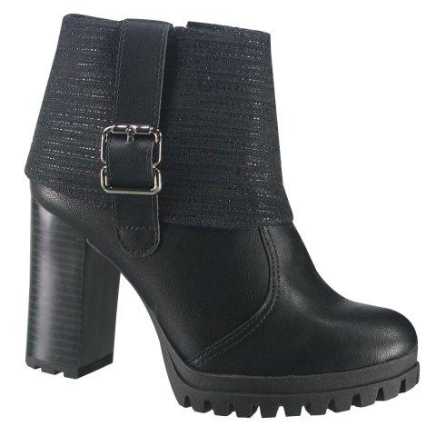 305bdb9110 Bota Feminina Ankle Boot Dakota G0271 0001 - Preto (Borghese ...