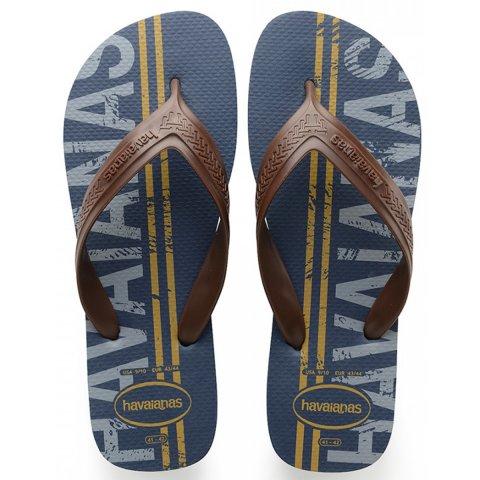 092e01c75 Sandália Masculina Havaianas Top Max Logomania 4141871 0089 - Azul Indigo - Calçados  Online Sandálias