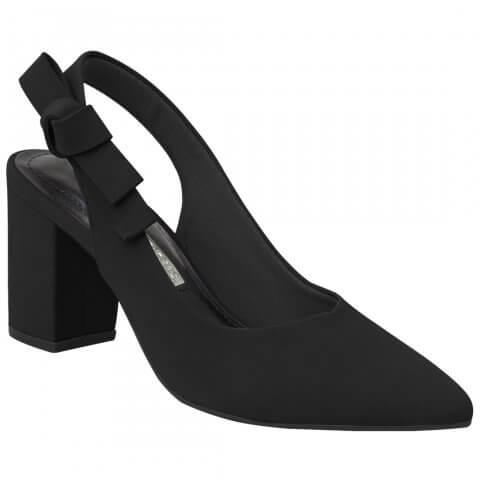 dac6089d2 Sapato Feminino Via Marte Chanel 19-7204 - Preto (Nobuck) - Calçados Online  Sandálias