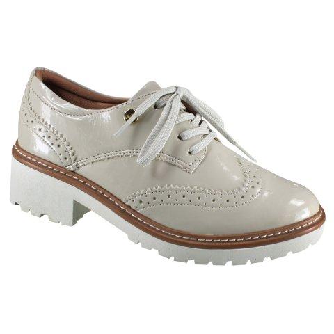 d12cc0319 Sapato Oxford Quiz 45-54804 - Off White (Cabedal Verniz Gamboa) - Calçados  Online Sandálias