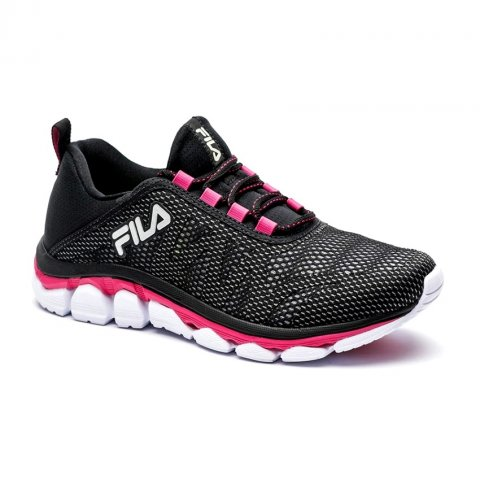 561966f2fa Tênis Feminino Fila Inverse 51J571X-3034 - Preto Rosa Prata ...