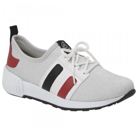 7acfc1abec8 Tênis Feminino Via Marte 18-9910 - Prata Branco (Malha Lurex Napa) -  Calçados Online Sandálias