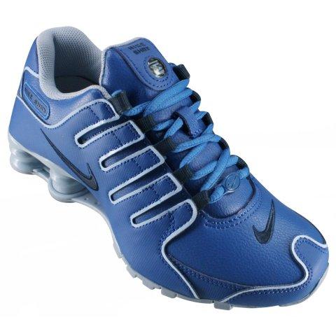 36feddd4a67 Tênis Feminino WMNS Nike Shox Nz 636088-401 - Azul Preto - Calçados ...