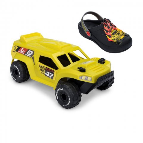 Babucha Infantil Grendene Hot Wheels Monster Truck (Com Brinde)