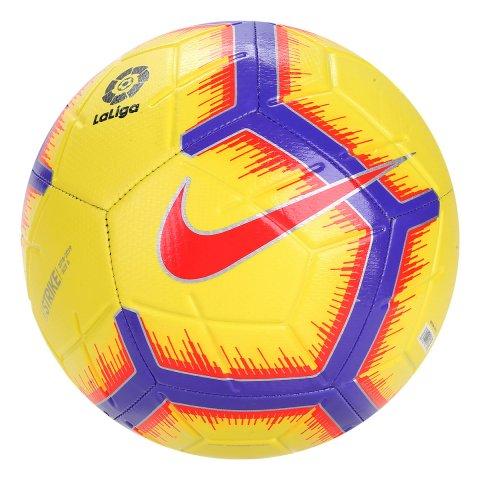 Bola Campo Nike La Liga Strike SC3313-710 - Amarelo Roxo - Calçados ... 1399905541900