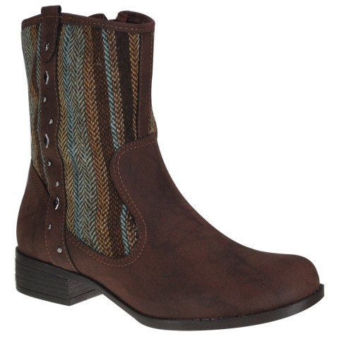Bota Via Marte Cano Curto 14-5506 Café (Napa Brush)