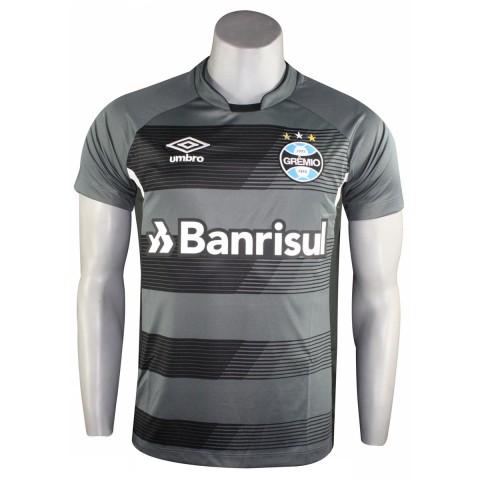 e73933f6b3d34 Camisa Masculina Umbro Grêmio Treino 2017 3G160085.812 Grafite Preto Branco