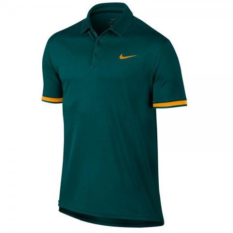 ac5a64a9a3137 Camisa Polo Masculina Nikecourt Dri-Fit 830849-303 - Verde ...