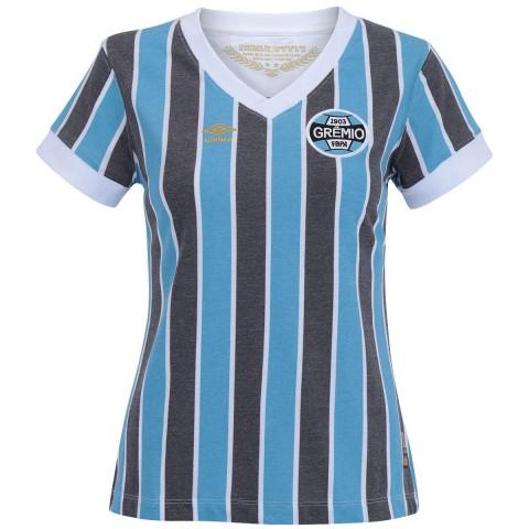6790bb1066fa4 Camisa Umbro Grêmio Feminina Retro 1983 3G00032 - Listrada ...