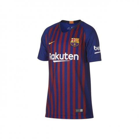 ef6a14de9a829 Camiseta Infantil Nike Barcelona 2018 894458-456 - Bordo Azul ...