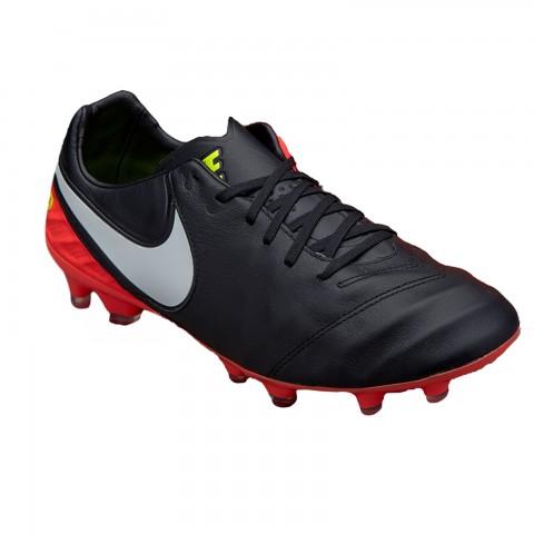 604ba0c7c90e1 Chuteira Campo Nike Tiempo Legacy II FG 819218-018 - Preto Salmão ...