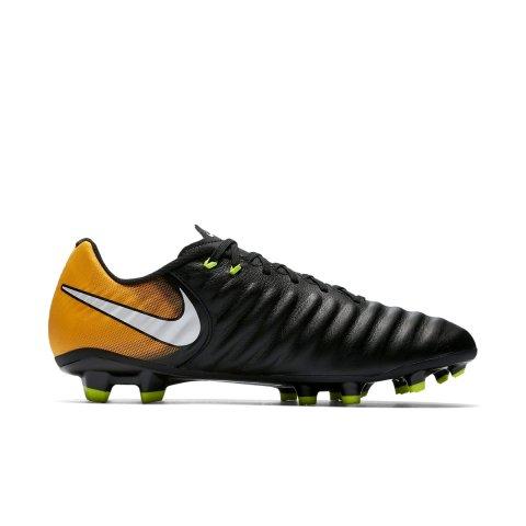 Chuteira Campo Nike Tiempo Ligera IV FG 897744-008 - Preto Laranja ... 4330e1c2b409f