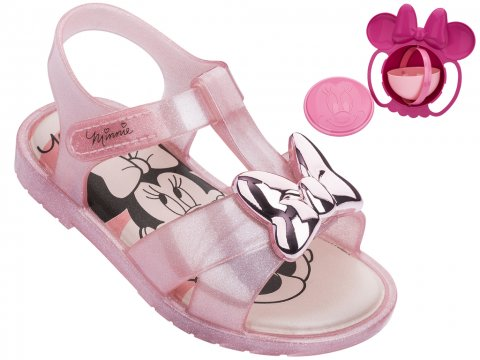 Sandália Infantil Grendene Minnie Magic Bowl (Com Brinde)