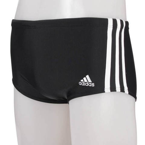 Sunga Adidas Lateral Larga 3s W61363 Preto/Branco