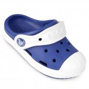 Babucha Infantil Crocs Bump It Clog 202282-4BE Azul/Branco