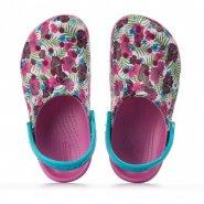 Babucha Infantil Crocs Graphic Clog 204118-9OQ Pink 1bed3d3460be5