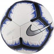 Bola Campo Nike Strike SC3310-101 Branco Preto Azul baa55e74128fd
