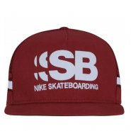 Boné Nike SB Cut Trucker 805025-674 Bordo/Branco