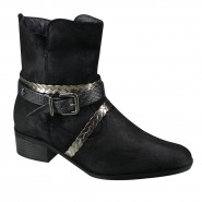 Bota Ankle Boot Cravo e Canela