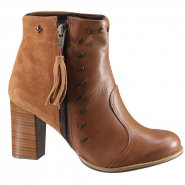 Bota Ankle Boot Cravo e Canela 150204 1 Avela (Mini Floater/Camurça)