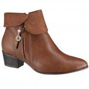 96504aa19 Bota Ankle Boot Ramarim Total Comfort 18-58105 000003 Mogno (Naturale  Plus/Trama
