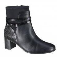 16df7d83ca Bota Comfortflex Feminina Ankle Boot 19-99303 000005 Preto (Vestuario  Vegetal Plus)