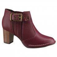 Bota Feminina Ankle Boot Campesí L5791 0001 Burgundy (Atlantic/Cusco)