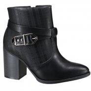 1ed9ef3cf1f Bota Feminina Ankle Boot Ramarim 19-16101 000003 Preto (Vegetal Plus Xadrez)