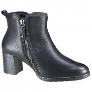 Bota Feminina Cravo e Canela Ankel Boot 161103-1 Preto (Caprino) 6f050f19616c2