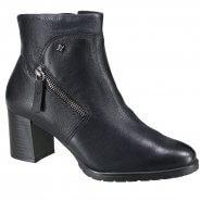 04bd5995b7 Bota Feminina Cravo e Canela Ankle Boot 161101-1 Preto (Caprino)