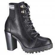 cba9a69d15 Bota Feminina Moleca Ankle Boot 5325.108 15522 18707 Preto Branco (Napa  Florenza)
