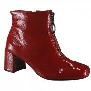 7c64543655a Bota Feminina Usaflex Ankle Boot Z4207 3 Rebu (Verniz Show)