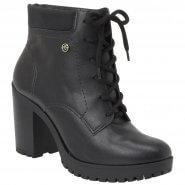 50759552f0 Bota Feminina Via Marte Ankle Boot 19-1510 Preto (Napa Lyra Nobuck Brush