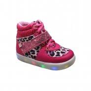 243ea4194 Bota Infantil Pinókio Com Luz 51.505-345 Onça Pink