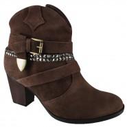 c9b147fc4c Bota Ramarim Ankle Boot 16-54105 Marrom Café (Camurça Soft)