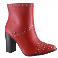 1ae1c279d Bota Via Marte Ankle Boot 18-6603 Vermelho (Napa)