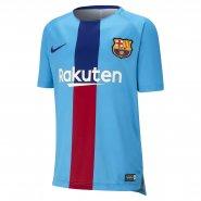 Camisa de Treino Infantil Nike FC Barcelona 894398-482 Azul Vermelho d713aa132aa5f