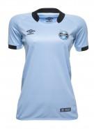 Camisa Feminina Umbro Grêmio Oficial II 2017 3G160097 313 Celeste Preto f541e841f980a