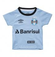 Camisa Infantil Umbro Grêmio Oficial II 2017 3G160099 313 Celeste Preto 0726ba20e129b