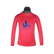 Camisa Infantil Poker Fator de Proteção UV 50+ 04052 Rosa Lilas 79165ecea0f