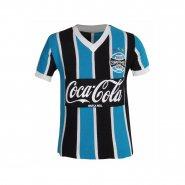 Camisa Juvenil Dilva Oldoni Grêmio Retro 1989 G552 Azul Preto Branco 7664dc6fffc