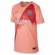 0dbb8b5151 Camisa Juvenil Nike Barcelona 3 2018 19 Stadium Away 919235-694 Rosa Salmão