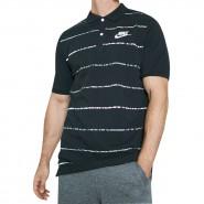 Camisa Masculina Polo Nike Pique Mathup 833883-010 Preto Branco 270dae60186ed