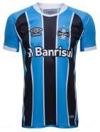ca21401d67 Camisa Masculina Umbro Grêmio Oficial 1 2017 (Game) 3G160086 321  Celeste Preto