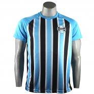 ab0b7e31bf71b Camiseta Masculina Grêmio Stripes Poa NC18007 Azul Tricolor