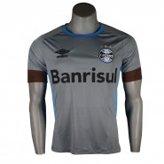 Camiseta Masculina Umbro Grêmio Treino 2016 Sem Número 3G11002 830  Cinza Azul Celeste 9e4d73d5043e4
