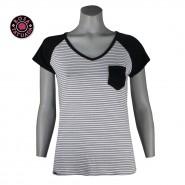 Camiseta Rosa Tatuada Casual Fit Listrada 4417 0102 Preto Branco ce5f3babc98a2