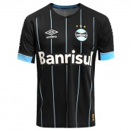 Camiseta Umbro Grêmio Oficial 4 2015 3G00036 Preto Celeste Branco 1083d922295ba
