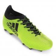 Chuteira Campo Adidas X 17.3 FG S82366 Limão Preto d390ffa61afd8