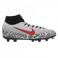 5e81bb5c6a893 Chuteira Campo Nike Neymar Superfly 6 Club FG MG AO9467-170 Branco Preto